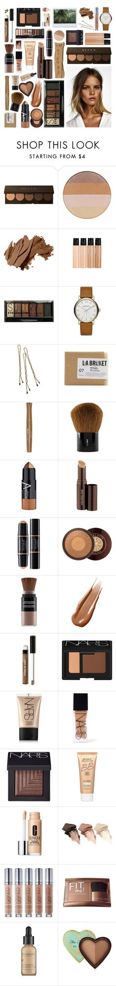 """""""nude by nature"""" by larazar ❤ liked on Polyvore featuring beauty, Becca, Jane Iredale, Bobbi Brown Cosmetics, mark., Boohoo, Marc by Marc Jacobs, Retrò, Club Monaco and Bourjois"""