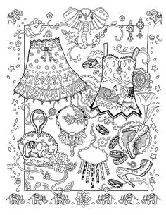 The new edition of Fanciful Fashions Coloring Book includes 15 new clothing collections along with the 34 of the originals. Adult Coloring Book Pages, Free Printable Coloring Pages, Free Coloring Pages, Coloring For Kids, Coloring Sheets, Coloring Books, Fairy Coloring, Digi Stamps, Colorful Fashion