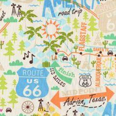 Timeless Treasures See America Fabric