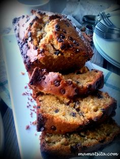 Pain, Chocolate Cake, Banana Bread, Cake Recipes, French Toast, Food And Drink, Chips, Sweets, Breakfast