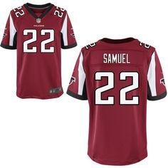 Nike Falcons #22 Asante Samuel Red Team Color Mens NFL Elite Jersey