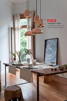 Lámparas Cobre - 30% OFF disponibles en cobre y blanco con interior negro/cobre/blanco