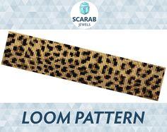 He encontrado este interesante anuncio de Etsy en https://www.etsy.com/es/listing/224856578/leopard-print-pattern-loom-bead-bracelet