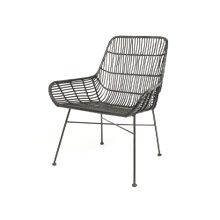 Leitmotiv Soothe Loungestoel Rotan - Zwart