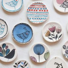 © 2013 Marina Marinski, All Rights Reserved Photo: Berislava Picek/ Cropix Painted Ceramic Plates, Hand Painted Ceramics, Ceramic Clay, Ceramic Painting, Ceramic Pottery, Pottery Art, Rock Painting, Pottery Painting Designs, Pottery Designs