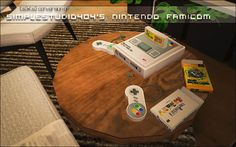 maaron | TUMBLR STUFF Games Box, Sims Cc, Poker Table, Furniture Decor, Retro Vintage, Nintendo, Geek Stuff, Objects, Supernatural