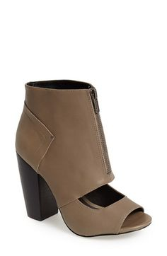 Kelsi Dagger Brooklyn 'Billie' Leather Open Toe Bootie (Women) available at #Nordstrom
