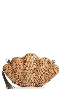 So cute, Kayu 'Jane' Straw Clamshell Clutch at Nordstrom.com. A woven-straw clamshell clutch finishes your look with a touch of fanciful aquatic-inspired sophistication.