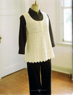 Knit And Wedding Bridal Accessories and Free pattern: Free crochet vest pattern