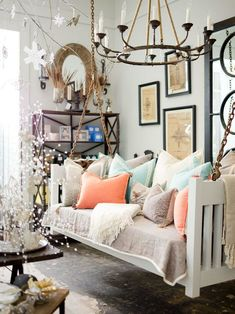 Gorgeous swing used inside
