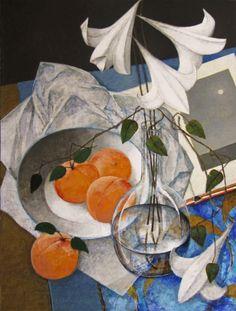 Pierre Lefebvre—-canadian artist : lys et abricots
