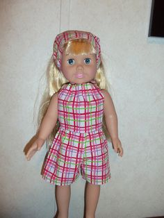 shirt & shorts for america dolls by CarolinaDollClothes on Etsy, $8.00