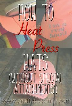 How to Heat Press HTV to A Hat (No Special Attachment Needed) - English Grammer Inkscape Tutorials, Cricut Tutorials, Cricut Ideas, Cricut Craft Room, Cricut Vinyl, Cricut Air, Cricut Help, Silhouette School, Silhouette Machine