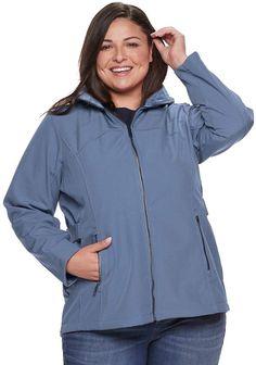 Plus Size ZeroXposur Britney Softshell Jacket, Women's, Size: Allure Curvy Plus Size, Softshell, Rain Jacket, Windbreaker, Raincoat, Long Sleeve, Sleeves, Jackets, Cold