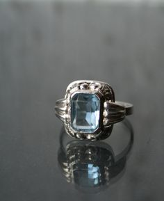 Vintage aquamarine...so pretty.  I would totally wear this!