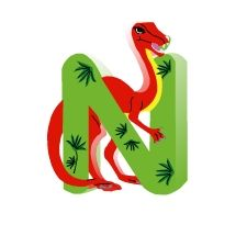 Alfabeto de dinosaurios.