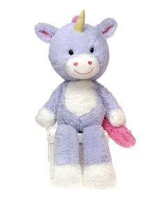 Look at this #zulilyfind! Unicorn Cuddle Fuzzy Warming Plush Toy #zulilyfinds