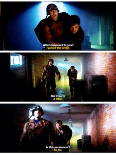 I thought you were smaller. | love how this is the first time Bucky sees him and that's how he responds