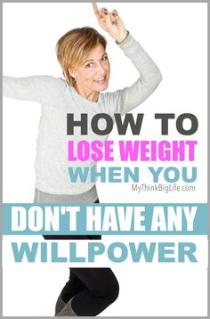 DO YOU FEEL OUT OF CONTROL WITH YOUR EATING? How do you get the willpower to stop eating? You don't! Using willpower to lose weight is one of the least effective methods for losing weight, because instead of it getting easier with time—it gets harder. Lose weight after 50 or any age.