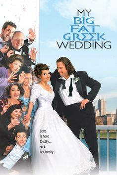 My Big Fat Greek Wedding - (2002) One woman's rocky road to the altar gets played for laughs in this comedy, adapted from the one-woman off-Broadway show written by and starring Nia Vardalos