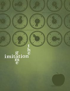 The Imitation Game (2014) ~ Minimal Movie Poster by Stacey Chomiak ~ 2015 Oscar Nominees #amusementphile