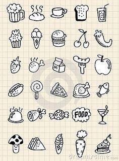Doodle food drink,hand draw by Notkoo2008, via Dreamstime