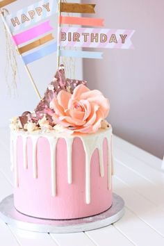 Chocolate Drip Cake | Pink drip cake - Cake by Sweetly Cakes - CakesDecor