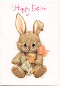 easter bunny | the bunny s ribbon bow the angel s wings and