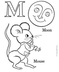alphabet coloring sheets letter m - Alphabet Coloring Pages For Kids