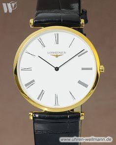 Longines La Grande Classic L-4-709-2-11-2, Herrenuhr, Quarz, vergoldetes Gehäuse, Lederarmband mit Stiftschließe