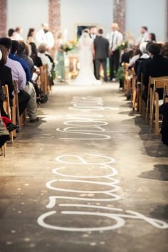 Love this idea for a wedding aisle! Photo: Callie Davis of Nancy Ray Photography / Event Planning & Design: Details by Martha Stilwell   Snippet & Ink