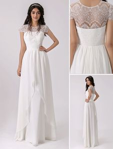 2016 Destination Wedding Dress with Eyelash Lace Bodice
