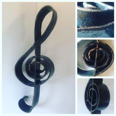 Ceramic Treble Clef, fired to stoneware, Mayco Denim glaze. Treble Clef, Ceramic Art, Stoneware, Glaze, Ceramics, Denim, Handmade, Enamel, Ceramica