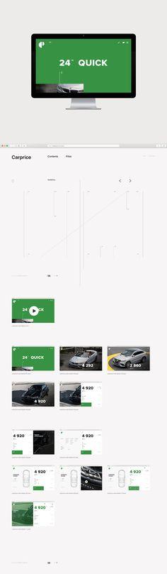 UI/UX for Carprice website