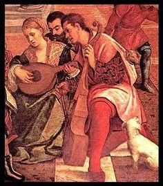 Bonifacio Veronese (Italian, 1487-1553) ~ Dives and Lazarus (detail) ~ 1540-1550 ~ Bonifazio Veronese was an Italian painter. He was born as Bonifazio de' Pitati in Verona. He reputedly trained under Palma il Vecchio.