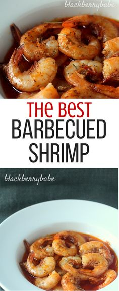 Rob's Famous Barbecued Shrimp - Blackberry Babe - The Best New Orleans Recipes Best Shrimp Recipes, Grilled Shrimp Recipes, Seafood Recipes, Donut Recipes, Dinner Recipes, Grilled Chicken, Pork Recipes, Fall Recipes, Barbecue Recipes