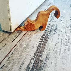 + Handcrafted olive wood doorstop ... | via ahenque