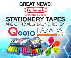 We are finally live on Qoo10 Singapore and Lazada! You can now purchase our stationery tapes with up to 76% savings inclusive of free delivery*! Click on the links to shop now!  http://www.qoo10.sg/shop/fullmark http://www.lazada.sg/fullmark-pte-ltd/