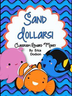 Sand Dollars!  Finding Nemo/Dory Themed Classroom Manageme