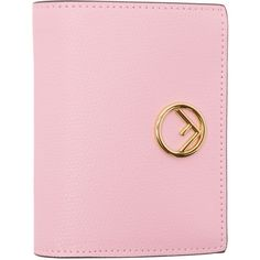 Fendi Pink Small Logo Wallet (1,475 PEN) ❤ liked on Polyvore featuring bags, wallets, fendi wallet, fendi bags and fendi