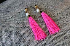 DIY Jewelry: DIY Neon Tassel Earrings with Holst