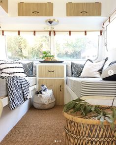 "caravan interior 65794844541266976 - BEFORE + AFTER Swipe left for before and during photos of the ""sleeping"" area of our early Coronet caravan… Mrs Schmick came to us… Source by eterness Happy Campers, Best Pop Up Campers, Rv Campers, Camper Trailers, Travel Trailers, Rv Travel, Retro Trailers, Travel Trailer Remodel, Caravan Decor"