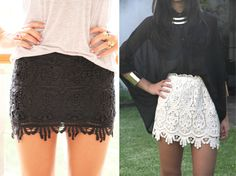 Shine Trim: DIY Inspiration: Lace Mini Skirt
