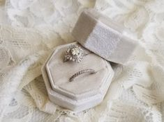 Wedding Ring Box Classic Proposal Vintage Ring Box Small Ring Silk Velvet Proposal Ring Box Custom Ring Box Ribbon Box Grosgrain Ring Box