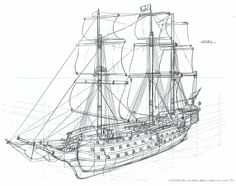 Feng Zhu Design: Term 1 Student Work, Week 7 – Art Drawing Tips Ship Sketch, Ship Drawing, Prop Design, Work Week, Technical Drawing, Ship Art, Character Design References, Tall Ships, Model Ships