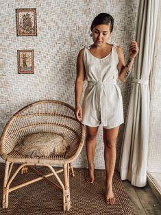 Short Jumpsuit, Linen Fabric, Textiles, Summer Dresses, Austria, Countries, Model, Portugal, How To Wear