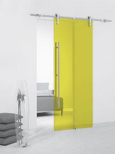 Puerta corredera de cristal Casali System Pineapple Transparente de Maydisa. www.maydisa.com