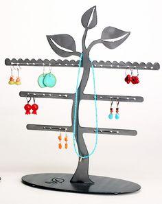 Leaf Trio Earring Tree Jewelry Display by EarthStudioMetalArt, $39.00
