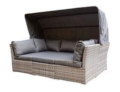 Lounge sofa garten grau  Sonneninsel, Polyrattan Garten Lounge, Chill-Out Sofa mit ...