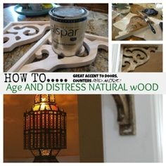 How to age and distress wood by raci